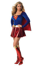 LICENSED SUPERGIRL WOMENS SEXY SUPER HERO ADULT SUPERMAN FANCY DRESS UP COSTUME