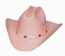 Western Great Plain Cattleman Straw Cowboy Hat w/ Silver Conchos White -S,M,L,XL