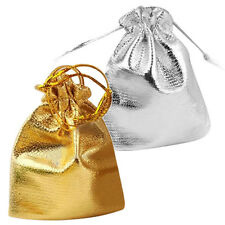 25pcs Drawstring Organza Favour Wedding Candy Gift Pouch Bags Silver FK