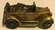 "Vintage 1974 Banthrico's Brass Antique Model ""A"" 1929 Ford MUSICAL Car Bank"