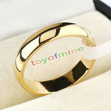 Polished Wedding Stainless Steel 4mm Band Ring Women Size 5-12 Engagement Party