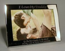 Personalised Engraved 7x5 Silver Plated Photo Frame Dad, Daddy, Fathers Day Gift