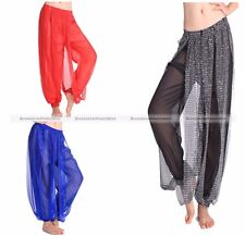 Belly Dance Tribal Costume Shinny Sequin Balloon Bloomers Trousers Under Pants