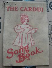 THE CARDUI SONG BOOK 1907 WOMENS HOME TREATMENT VINTAGE ANTIQUE BOOK BOOKLET