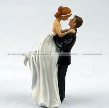 Resin Wedding Cake Topper Love Favors Figurine Decorations Bride and Groom Decor