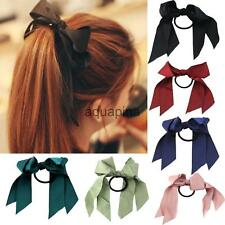 New Fashion Ribbon Bow Hair Tie Rope Scrunchie Ponytail Holder for Women Girls