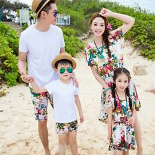 Summer holiday family matching clothes girl mother dress father Boy sets Outfits