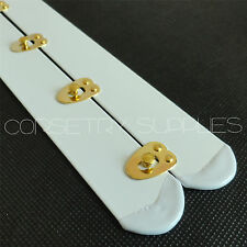 "White Busk With Golden Knobs,Corset Fastener,2"" Wide,Corset Making Supplies"
