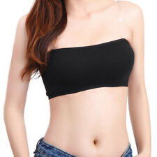 Fashion New Solid Bandeau Seamless Bra Tube Tank Top Strapless Stretch One Size
