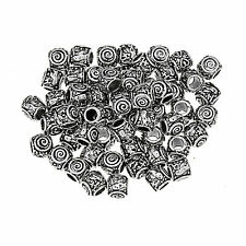 1/10/20/50/50pcs Tibetan Big Hole European Charm BeadsTibetan Silver Spacer