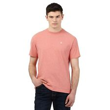 St George By Duffer Mens Pink Logo Embroidered T-Shirt From Debenhams