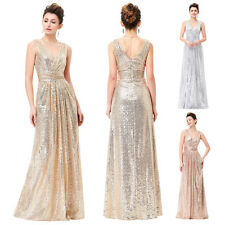 Sexy Shining Sequined Bridesmaids Wedding Dress Evening Prom Formal Party Gown