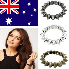 Chic Punk Rock Gothic Style  Rivet Stud Spike Rivet Elastic Stretch Bangle NEW T