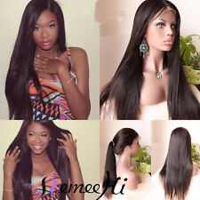 100%  Indian Remy Human Hair Silky Straight  Lace Front/Full Wigs Baby Hair