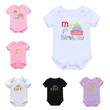 One-piece Baby Girls Toddler Infant Romper Bodysuit Jumpsuits 1st Crown Clothes