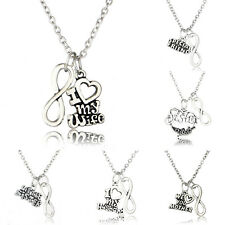 Infinity Pendant Necklace Women Party Family Gift Lover Wife Husband Charm Hot