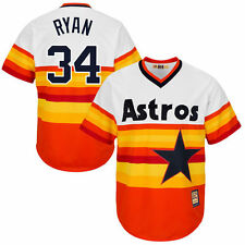 "Houston Astros ""Nolan Ryan  "" Majestic MLB Cooperstown Coolbase Jersey"