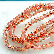 Hot Colors Rondelle Faceted Crystal Glass Loose Spacer Beads DIY  3mm4mm6mm8mm