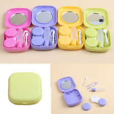 Pocket Mini Contact Lens Case Travel Kit Mirror Container High Quality Small THI