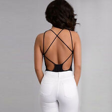 Fashion Women Sexy Sleeveless Hollow Out Bandage Overalls Playsuit Short Rompers