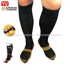 Miracle Copper Socks Unisex Anti Fatigue Compression Socks Pain Relief Black S2