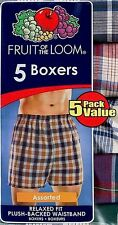 Fruit of the Loom Men's Plaid Boxers, 5-Pack! Assorted Colors. (27151460)