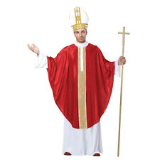 The Pope Adult Costume Robe Papal Hat Catholic Church Holy Religious Father New