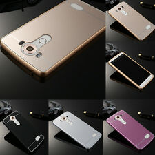 Luxury Ultra-thin Aluminum Metal Bumper PC Back Case Cover For LG V10