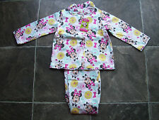 BNWT Girl's Minnie Mouse Flannelette Pyjamas Sizes 3, 4 & 6