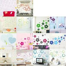 Flowers Floral Heart Wall Sticker Decal DIY Removable Home Decor Wallpaper MKLG