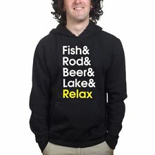Fishing Rod Tackle Angler Bait Running Sweatshirt Hoodie