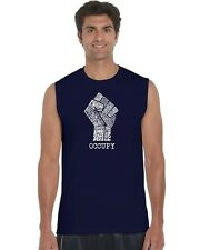 Men's Sleeveless Shirt - OCCUPY WALL STREET - FIGHT THE POWER