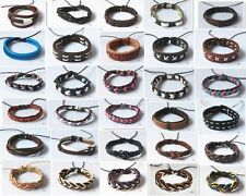 1pcs Leather bracelet wholeasale lots Cuff Men Women Bracelet Wristband A31-A60