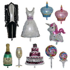 Dress/Cake/Glass Big Helium Foil Balloons Party Wedding Birthday Decoration