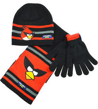 Boys 3pc Angry Birds Winter Hat Glove and Scarf Set
