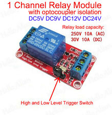 5V 12V 24V 1-Channel H/L Level Relay Module with Optocoupler Triger for Arduino