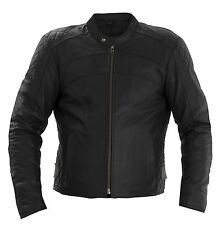 RAYVEN SPIRIT CASUAL HIGH QUALITY LEATHER MOTORCYCLE JACKET BLACK *CE PROTECTION