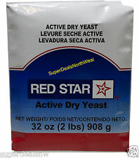 2 Pounds Red Star~ACTIVE DRY YEAST~Baking Bread Vacuum Sealed (32oz)*FREE SHIP*