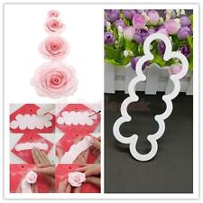 3D Rose Flower Mold Mould Fondant Cutter Cake Cookie Decorating Baking Tool Set