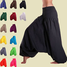 Men & Women Harem Pants Cotton Baggy Yoga Afghani Genie Indian Aladdin Trouser