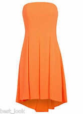 Miss Selfridge Bandeau Prom Dress in Orange