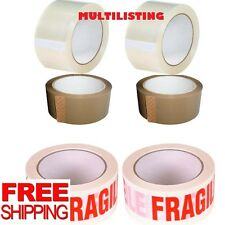BIG ROLLS STRONG PACKING TAPE BROWN /CLEAR /FRAGILE 48mm x 66M Rolls PARCEL TAPE