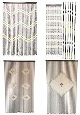 Wood Wooden Beaded Tassel Blind Fly Insects Door Curtain For Home 4 Designs New