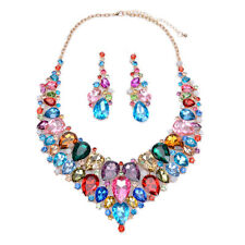 2016 New Fashion Luxury Crystal Statement Women Bib Necklace