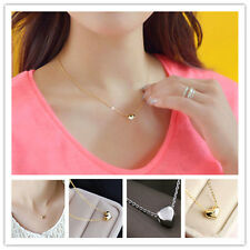 wholesale lady princess heart shaped 14K white & yellow Gold Plated Necklace