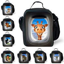 Kids Animal Lunch Bags Portable Insulated Cooler Bag Picnic Bags School Lunchbox