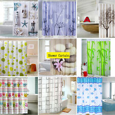 Multiple Style Waterproof  Bathroom shower Curtain 180X180cm with 12 Hooks