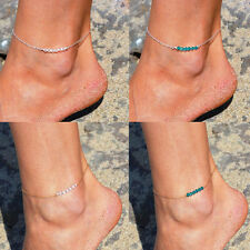 Hot Sexy Simple Bead Infinity Silver Plated Anklet Bracelet Foot Chain