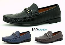 Mens Slip On Casual Designer Loafers Fashion Shoes Smart Driving Moccasin JAS