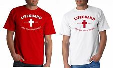 LIFEGUARD SHIRT MINE WALKS ON WATER T-Shirt JESUS CHRIST CHRISTIAN Red or White
